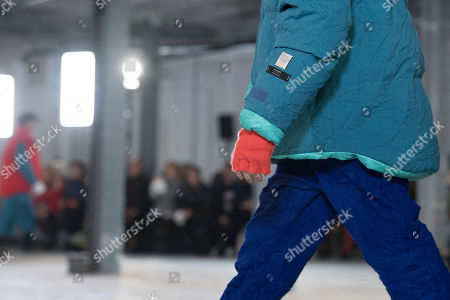 A model presents a creation from the Fall/ Winter 2018/2019 Ready to Wear collection by Japanese designer Hiromichi Ochiai for Facetasm during the Paris Fashion Week, in Paris, France, 17 January 2018. The presentation of the Men's collections runs from16 to 21 January 2018.