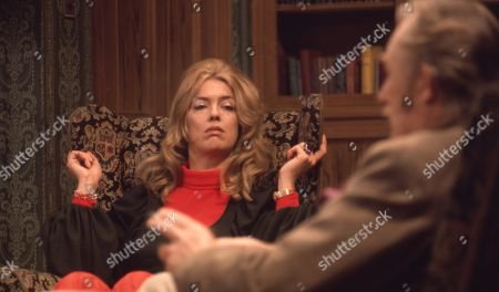 Stock Picture of Ep 0042 Tuesday 13th March 1973 George tells Laura she can have the divorce - With George Verney, as played by Patrick Holt; Laura, as played by Patricia Haines