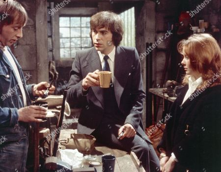 Jack Sugden, as played by Andrew Burt ; Frank Blakey, as played by Eric Allan; Janie Harker, as played by Diane Grayson