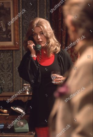 Stock Photo of Ep 0042 Tuesday 13th March 1973 George tells Laura she can have the divorce - With Laura, as played by Patricia Haines