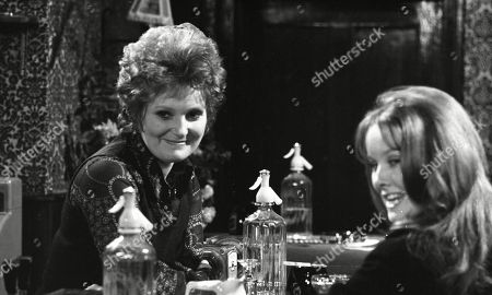 Ep 0039 Monday 5th March 1973  The refurbished Woolpack opens, but the customers seem to be elsewhere. Amos eagerly awaits a visit from the brewery to inspect the premises - With Alison Gibbs, as played by Carolyn Moody; Janie Harker, as played by Diane Grayson