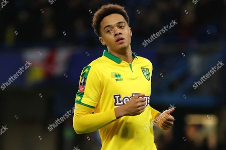 Stock Photo of Matthew Jarvis of Norwich City - Chelsea v Norwich City, The Emirates FA Cup 3rd round replay - Stamford Bridge, London - 17th January 2018.
