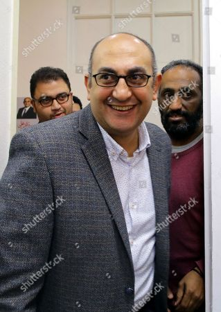 Egyptian human rights lawyer Khaled Ali arrives before his press conference in Cairo, Egypt, 17 January 2018. Former Presidential candidate and human rights lawyer Khaled Ali announced that he will countiune his run as a candidate in the 2018 presidential elections in Egypt as long as he is not barred from applying. He announced that his campaign is still collecting the 25 thousand required nomination forms from eligible voters -most of which are from youth supporters-, and plans to submit them to the Egyptian high elections commission on 25 January 2018, on the seventh anniversary of the 25 January uprising that toppled former Egyptian President Hosni Mubarak.