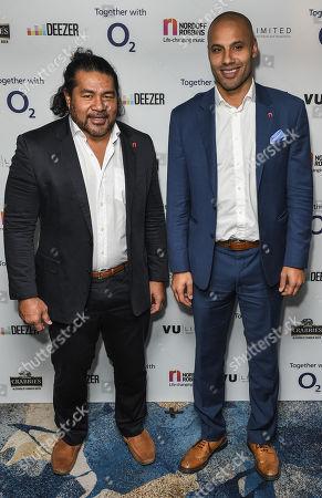 Freddie Tuilagi and Leon Lloyd