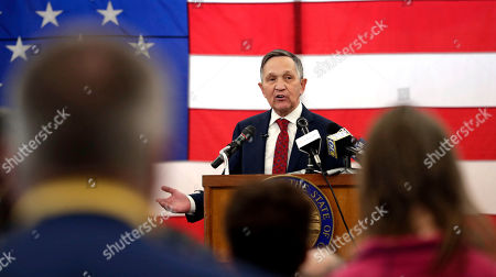 Former U.S. Rep. Dennis Kucinich speaks during a news conference announcing his run for Ohio governor, in Middleburg Heights, Ohio. Kucinich said he would muster state resources to fight poverty and violence, boost arts and education and expand economic opportunity