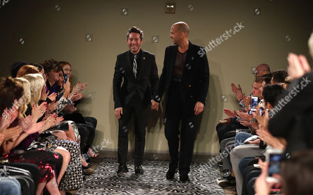 Brian Wolk and Claude Morais on the catwalk