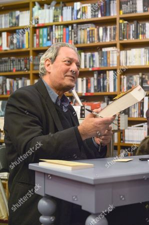 Signing session of the new book by Paul Auster, called 4 3 2 1, Actes Sud Editions at Millepages Bookstore.