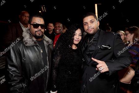 Stock Photo of Ice Cube, Kimberly Woodruff, O'Shea Jackson Jr.