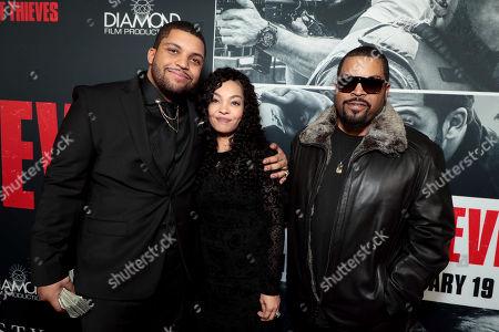 Stock Image of O'Shea Jackson Jr., Ice Cube, Kimberly Woodruff