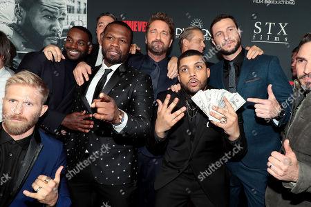 Kaiwi Lyman, Mo McRae, Christian Gudegast, Writer/Director/Producer, 50 Cent, Gerard Butler, Brian Van Holt, O'Shea Jackson Jr., Pablo Schreiber, Maurice Compte