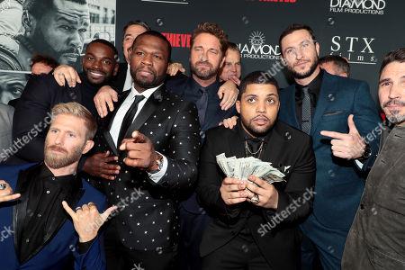 Kaiwi Lyman, Mo McRae, Christian Gudegast, Writer/Director/Producer, 50 Cent, Gerard Butler, Brian Van Holt, O'Shea Jackson Jr., Pablo Schreiber