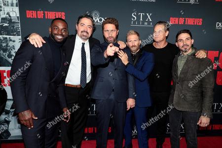 Mo McRae, Christian Gudegast, Writer/Director/Producer, Gerard Butler, Kaiwi Lyman, Brian Van Holt, Maurice Compte
