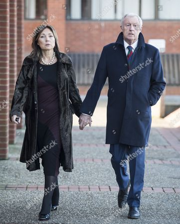 Stock Picture of Television presenter Chris Tarrant arrives at Reading Magistrates Court with his partner Jane Bird where he faces drink driving charges.