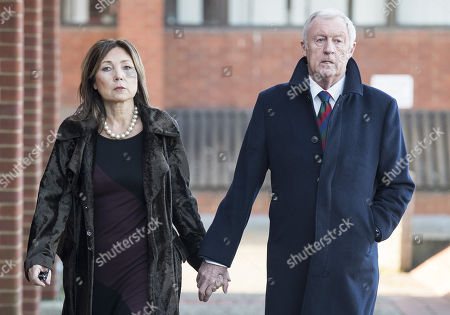 Stock Photo of Television presenter Chris Tarrant arrives at Reading Magistrates Court with his partner Jane Bird where he faces drink driving charges.