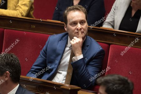 Stock Picture of Sylvain Maillard attends the weekly session of the questions to the government at French parliament.
