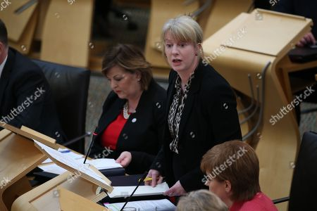 Scottish Parliament General Questions - Shona Robison, Cabinet Secretary for Health, Wellbeing and Sport, answering a question during General Questions immediately before First Minister's Questions