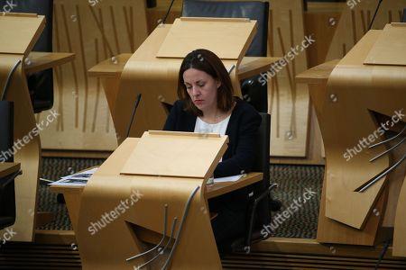 Scottish Parliament General Questions - Kezia Dugdale waits for FMQs to begin