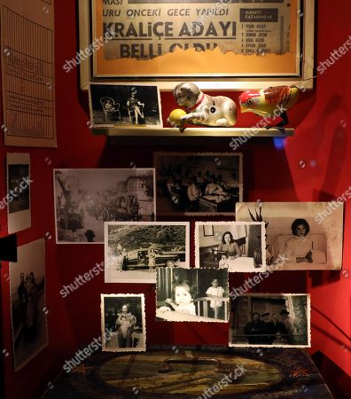 The artwork 'Dista Relation' by Turkish author and recipient of the 2006 Nobel Prize in Literature, Orhan Pamuk is on display the exhibition 'Il museo dell'innocenza di Orhan Pamuk a Milano' (Orhan Pamuk Innocent Museum at Milan) at  Bagatti Valsecchi Museum in Milan, Italy, 18 January 2018. The exhibition runs from 19 January to 24 June 2018 in Milan.