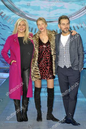 Mara Venier, Alessia Marcuzzi and Daniele Bossari