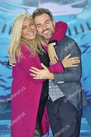 Stock Image of Mara Venier and Daniele Bossari