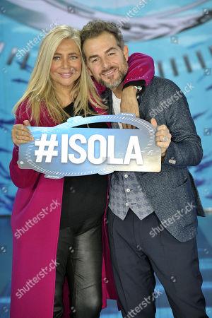 Stock Photo of Mara Venier and Daniele Bossari