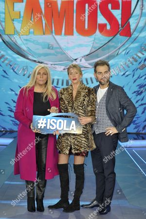 Editorial image of 'L'Isola dei Famosi' TV show press conference, Milan, Italy - 18 Jan 2018