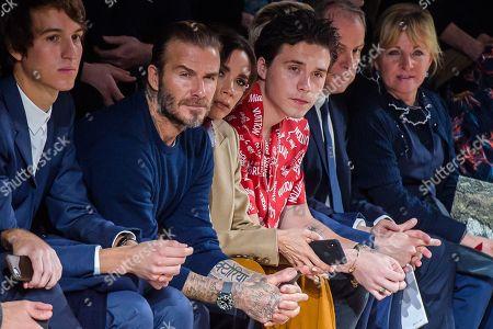 Alexandre Arnault, David Beckham and Victoria Beckham