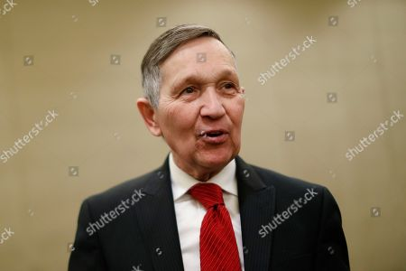 Former U.S. Rep. Dennis Kucinich speaks at a news conference after announcing his run for Ohio governor the previous day, in Cincinnati. Kucinich said he would muster state resources to fight poverty and violence, boost arts and education and expand economic opportunity