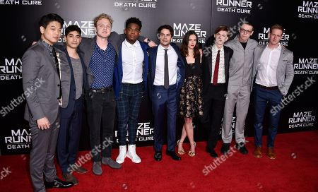 Ki Hong Lee, Alexander Flores, Joe Adler, Dexter Darden, Dylan O'Brien, Kaya Scodelario, Thomas Sangster, Will Poulter and Chris Sheffield
