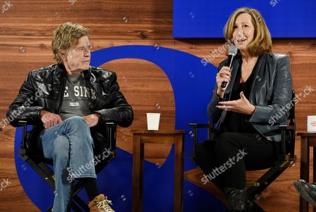 Keri Putnam, Robert Redford. Keri Putnam, right, executive director of the Sundance Institute, answers a reporter's question as Sundance Institute founder Robert Redford looks on during the opening day press conference at the 2018 Sundance Film Festival, in Park City, Utah