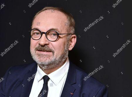 Editorial photo of Joel Guerriau portrait session, Paris, France - 18 Jan 2018