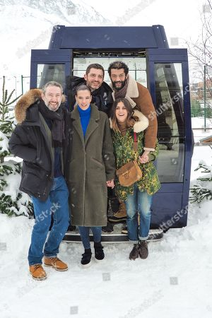 Vincent Desagnat, Charlotte Gabris,, Geraldine Nakache, (2nd Row) Alexandre Coffre and Ramzy Bedia