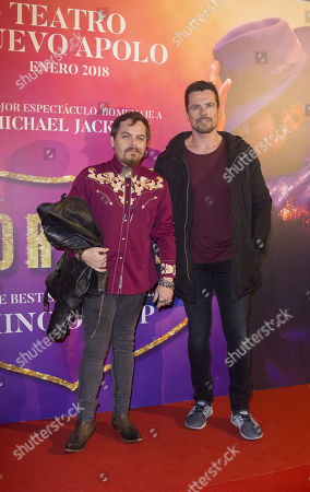 Jimmy Barnatan and Octavi Pujades attends to Forever Jackson Premiere at Nuevo Apolo Theater in Madrid on January 18, 2018. (© Ana Cian / MARINA PRESS)