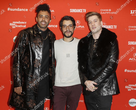 Actor Daveed Diggs (L), Director Carlos Lopez Estrada (C), and Actor Rafael Casal (R) arrive for the premier of the movie ?Blindspotting? at the 2018 Sundance Film Festival in Park City, Utah, USA, 18 January 2018. The festival runs from  the 18 to 28 January.
