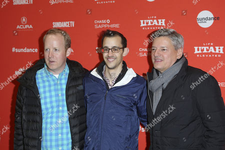 Stock Picture of Ian Bricke, Matthew Levin and Ted Sarandos