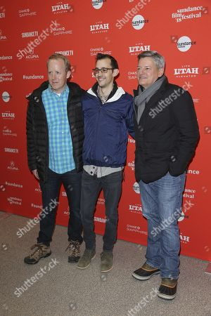 Ian Bricke, Matthew Levin and Ted Sarandos