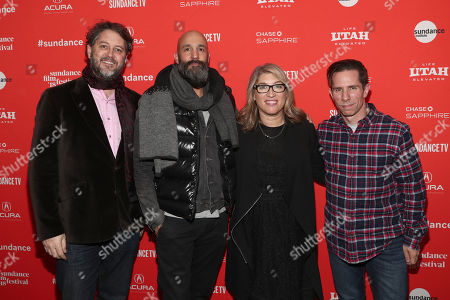 Producer Frank Evers, Amazon Studios Head of Motion Pictures Jason Ropell, Director Lauren Greenfield, and Amazon Studios Scott Foundas