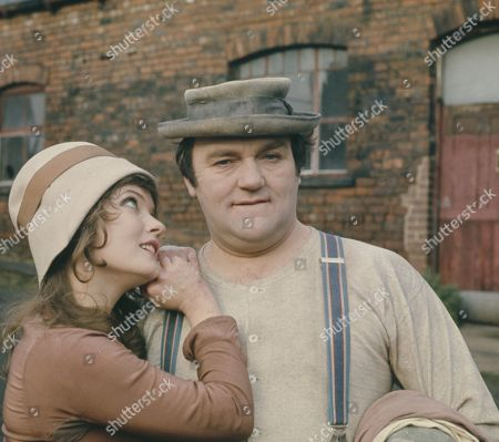 Les Dawson, as the pastiche 1920s Hollywood silent film hero; with Deborah Watling, as the pastiche 1920s Hollywood silent film damsel in distress