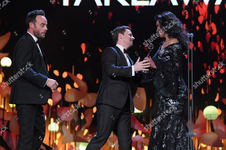 Ant & Dec - Anthony McPartlin and Declan Donnelly - The Bruce Forsyth Entertainment Award - 'Ant and Dec's Saturday Night Takeaway', presented by Wilnelia Merced