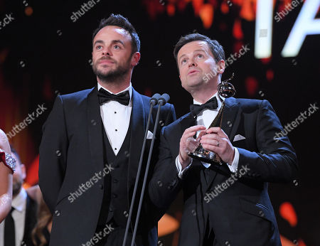 Stock Photo of Ant & Dec - Anthony McPartlin and Declan Donnelly - The Bruce Forsyth Entertainment Award - 'Ant and Dec's Saturday Night Takeaway'