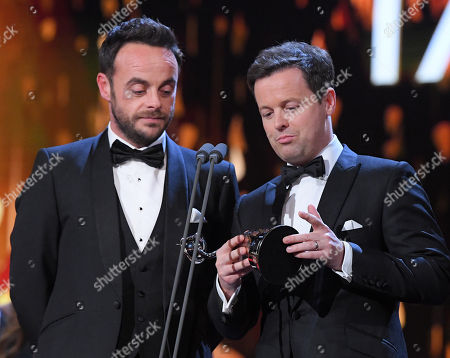 Stock Image of Ant & Dec - Anthony McPartlin and Declan Donnelly - The Bruce Forsyth Entertainment Award - 'Ant and Dec's Saturday Night Takeaway'