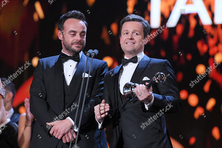 Stock Picture of Ant & Dec - Anthony McPartlin and Declan Donnelly - The Bruce Forsyth Entertainment Award - 'Ant and Dec's Saturday Night Takeaway'
