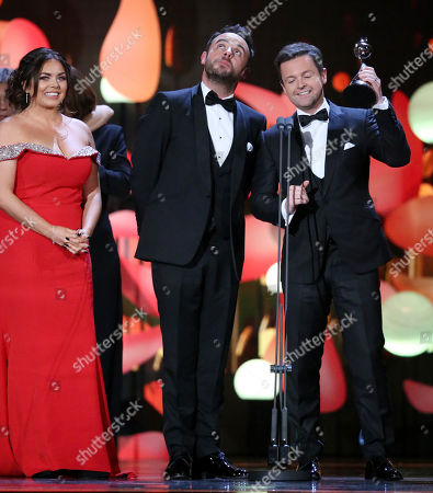 Scarlett Moffatt, Ant & Dec - Anthony McPartlin and Declan Donnelly - The Bruce Forsyth Entertainment Award - 'Ant and Dec's Saturday Night Takeaway'