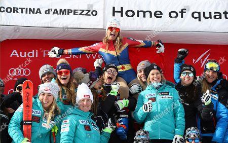 Editorial photo of Mancuso Retirement, Cortina d'Ampezzo, Italy - 19 Jan 2018