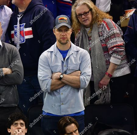 Shane McRae attends Buffalo Sabres vs New York Rangers game at Madison Square Garden
