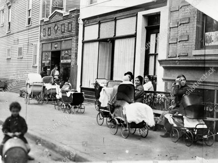 Made available by the Library of Congress, people with baby carriages sit in front of the Sanger Clinic in the Bronwsville area of the Brooklyn borough of New York. Margaret Sanger, her sister, Ethyl Byrne, and colleague, Fania Mindell, opened the America's first birth control clinic on Oct. 16, 1916. The three sought to provide birth control advice to low-income immigrant women. Planned Parenthood dates its beginnings to Oct. 16, 1916 - the opening of this clinic. Women couldn't vote then, and contraception was illegal