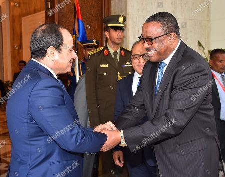 Editorial photo of Ethiopia Prime Minister Hailemariam Desalegn visit to Cairo, Egypt  - 18 Jan 2018