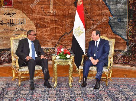 Editorial image of Ethiopia Prime Minister Hailemariam Desalegn visit to Cairo, Egypt  - 18 Jan 2018