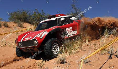 Finnish driver Mikko Hirvonen of Mini competes during the 13th stage of the 2018 Rally Dakar, between San Juan and Cordoba, in Argentina, 19 January 2018.