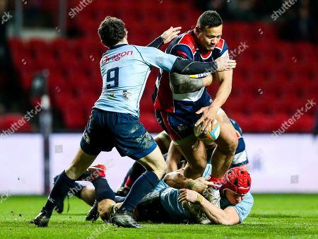 Editorial photo of Bristol Rugby v Cardiff Blues Select B&I Cup, UK - 19 Jan 2018